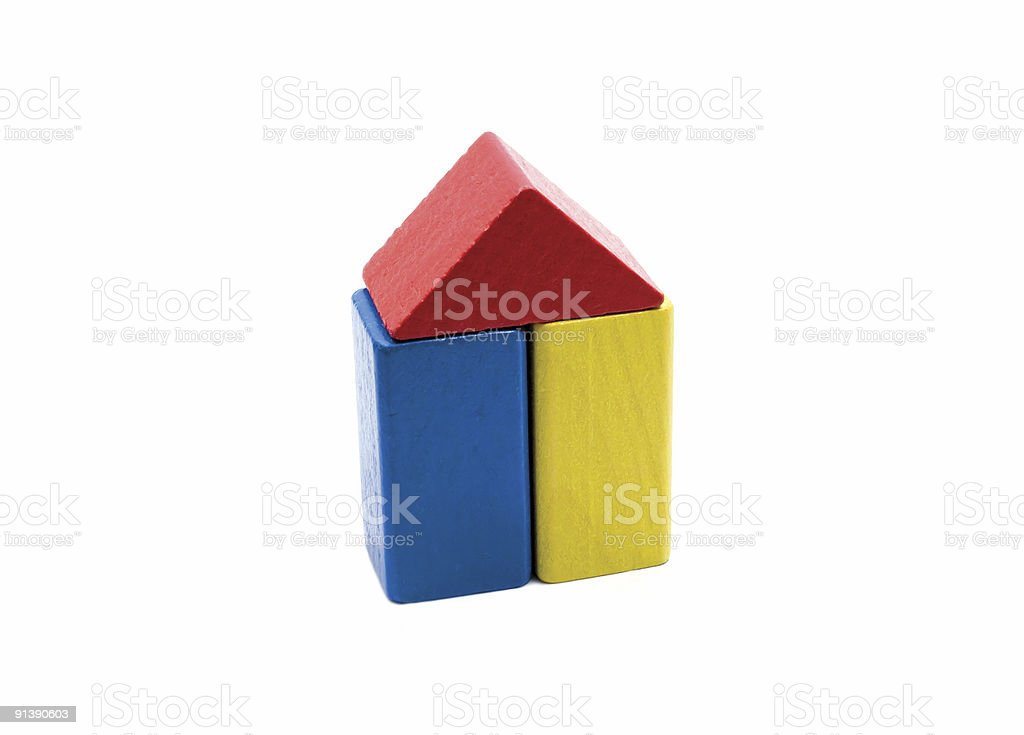 house made of building blocks royalty-free stock photo