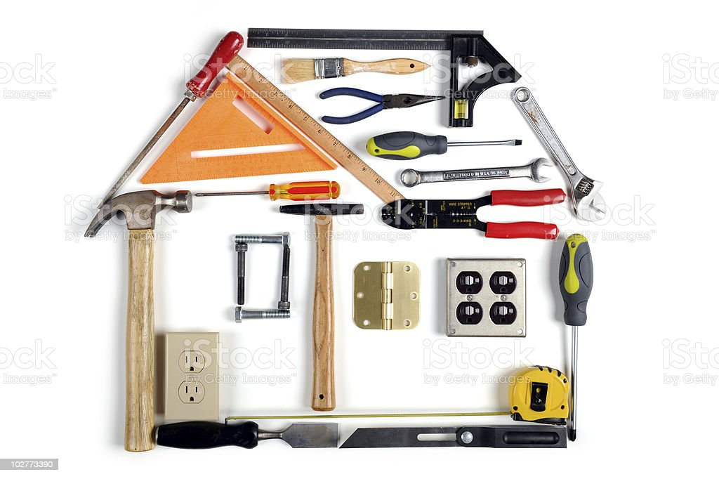 House Made of Tools royalty-free stock photo
