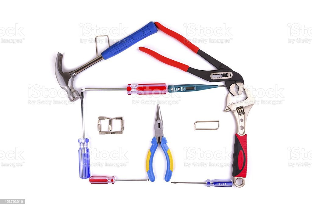House Made of work Tools royalty-free stock photo