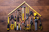 istock House Made Up Of Measuring Tapes And Tools 949187600