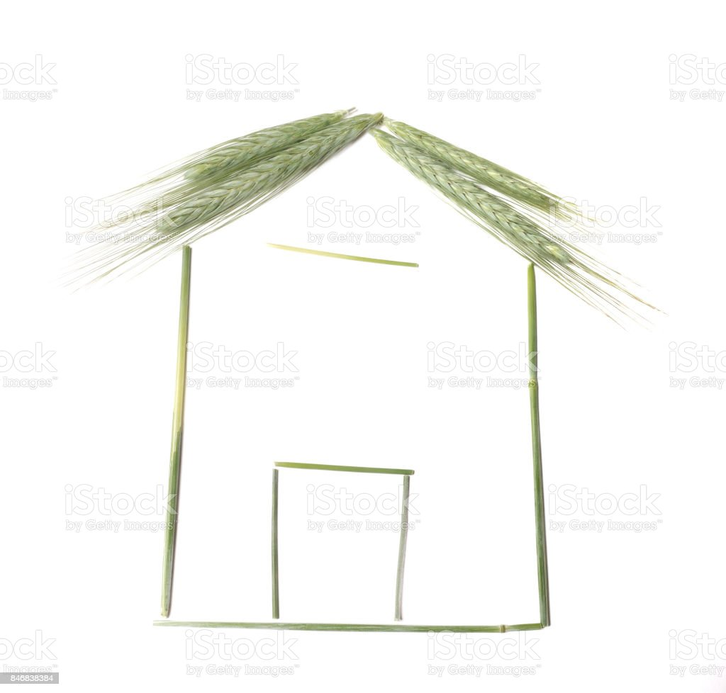 House made with barley stock photo
