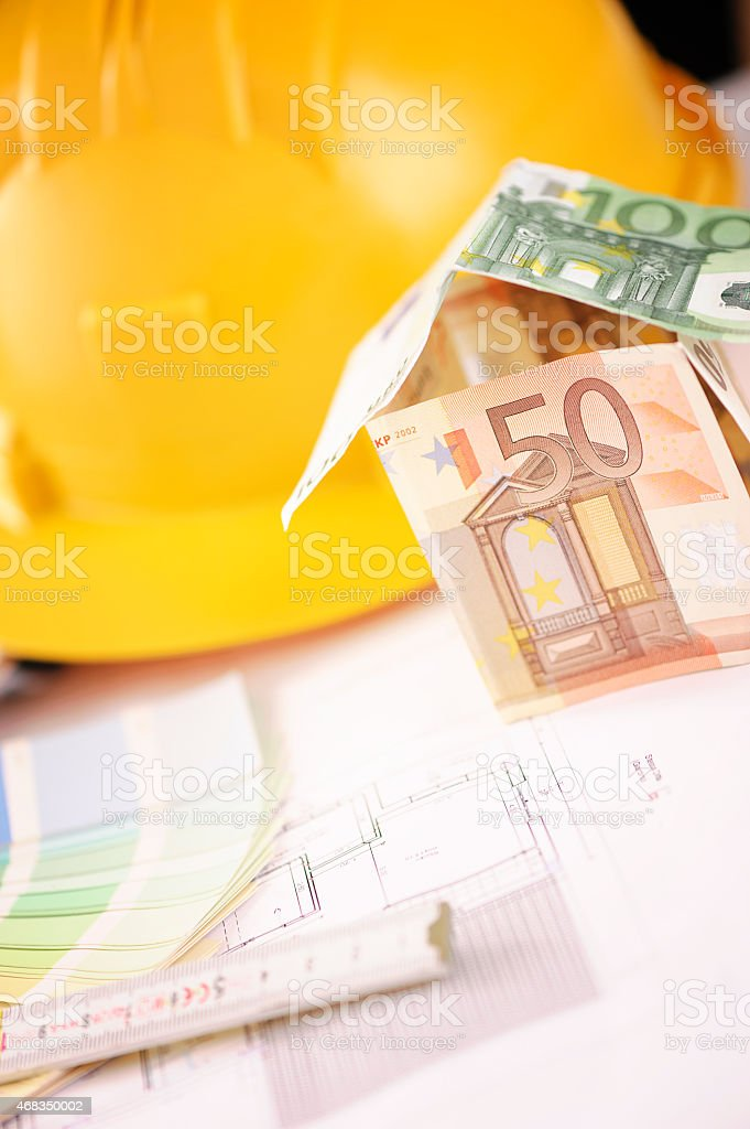 house made with euro royalty-free stock photo