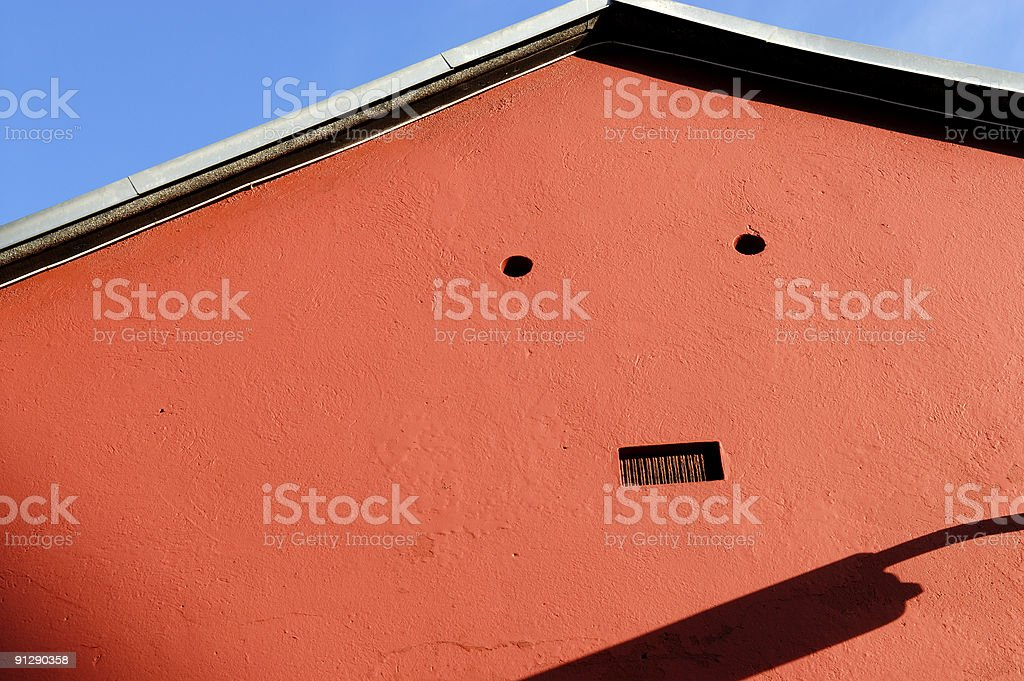 House making a face stock photo