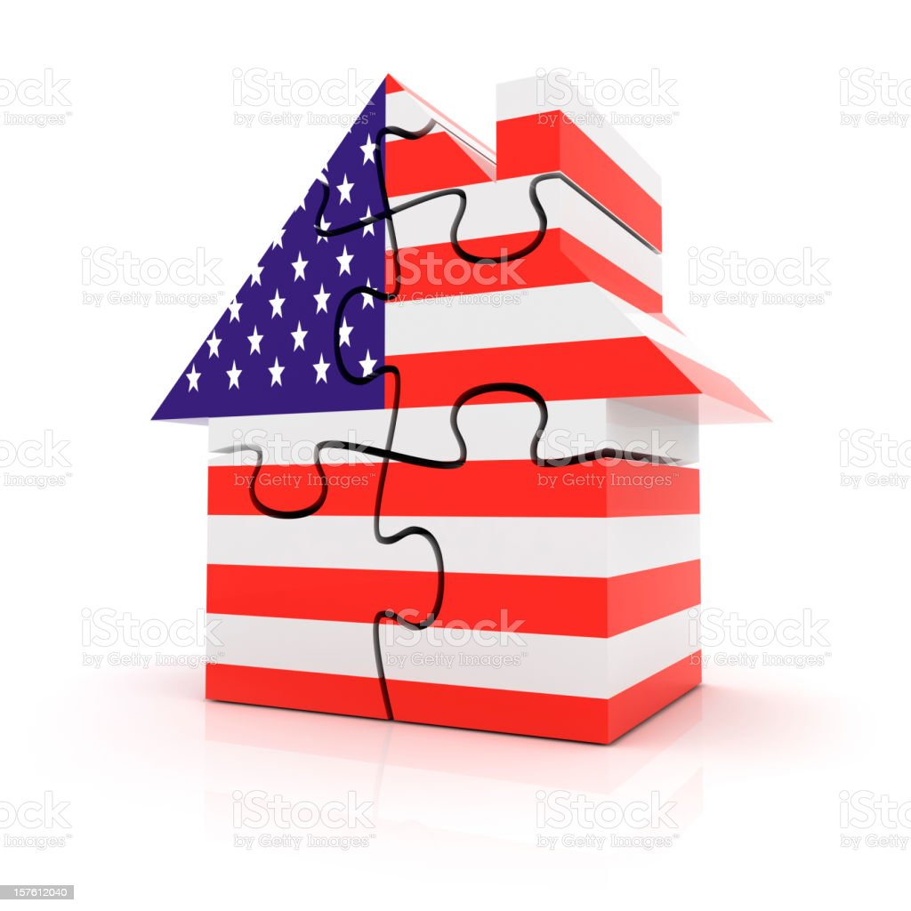 USA House Market Puzzle Concept royalty-free stock photo