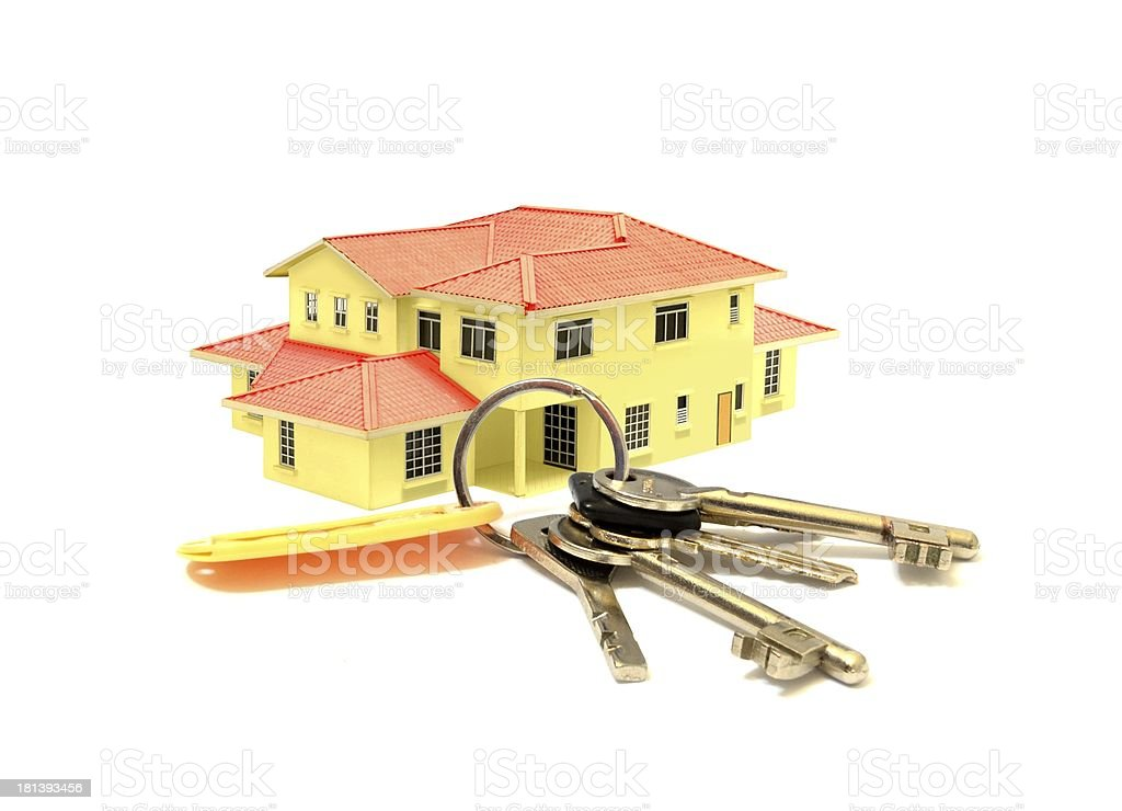 House Model and a Bunch of Keys royalty-free stock photo