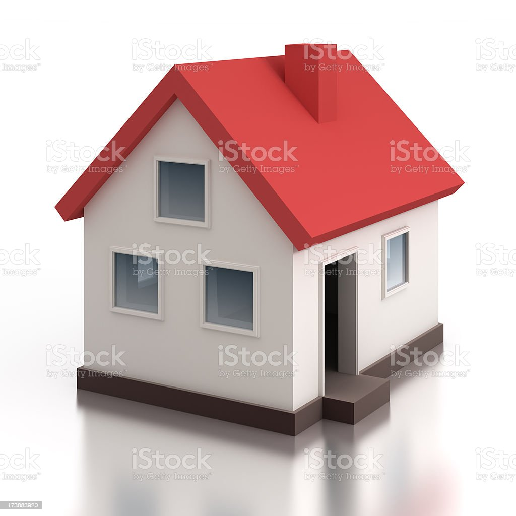 House model - isolated on white with clipping path stock photo