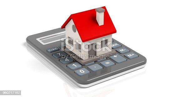 istock House model on a calculator 960217162