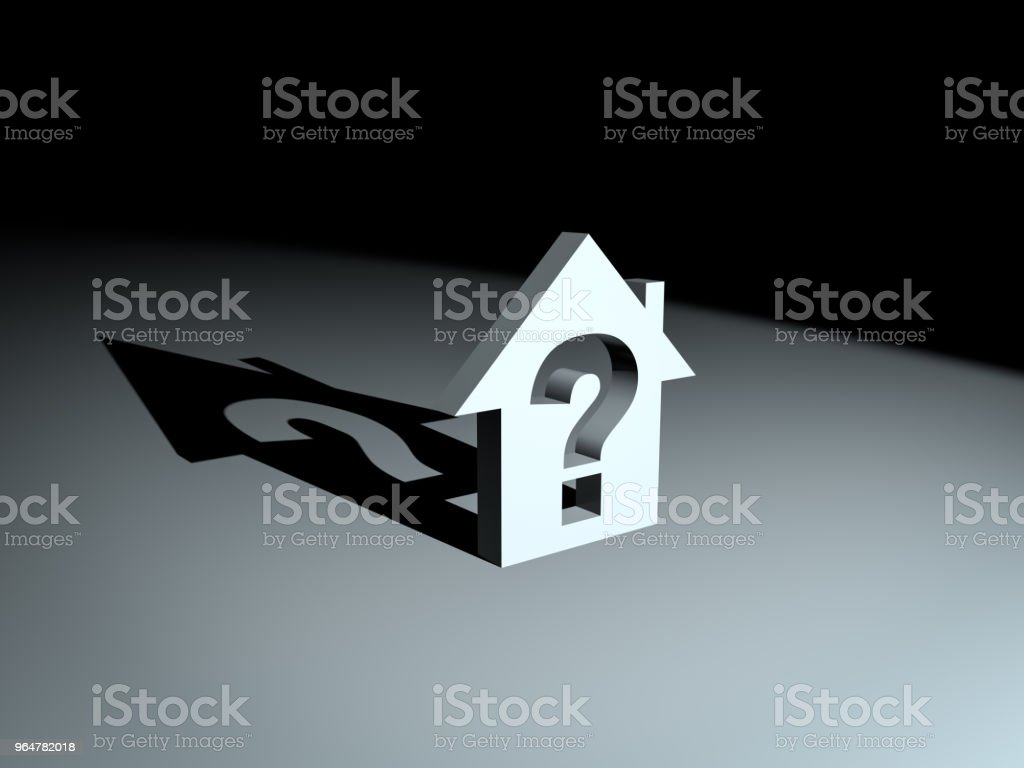House Model With Question Mark royalty-free stock photo