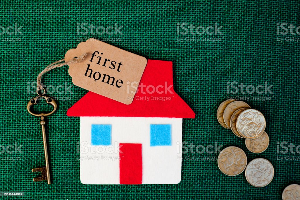 House - Money - Save - First Home stock photo