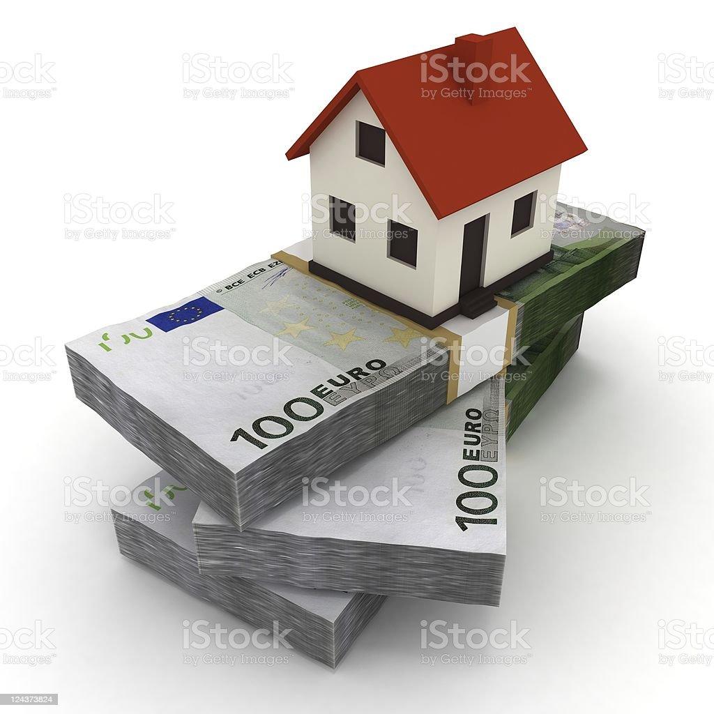 House Mortgage - Euro royalty-free stock photo