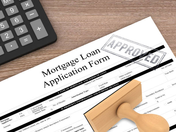 house mortgage loan application form - mortgages and loans stock pictures, royalty-free photos & images