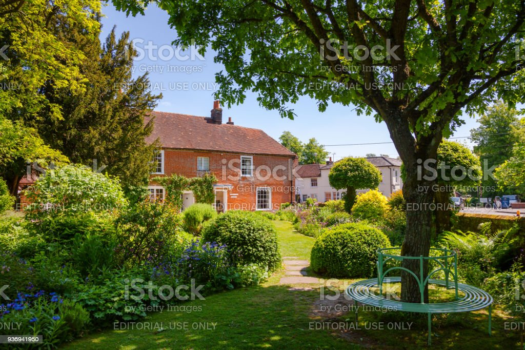 House Museum of Jane Austen in Chawton Hampshire South East England UK stock photo