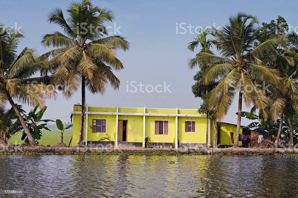House near the water royalty-free stock photo