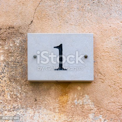 583977832 istock photo House number 1 526137454
