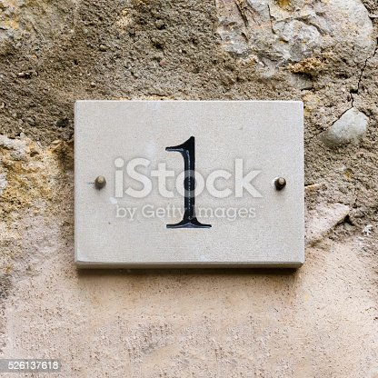 583977832 istock photo House number 1 526137618