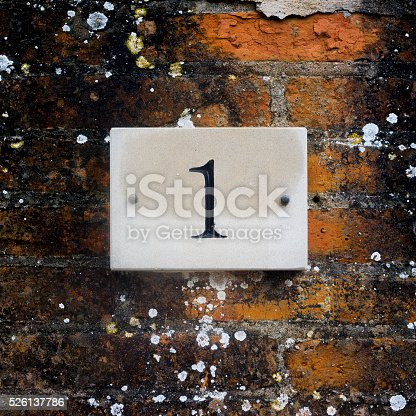 583977832 istock photo House number 1 526137786