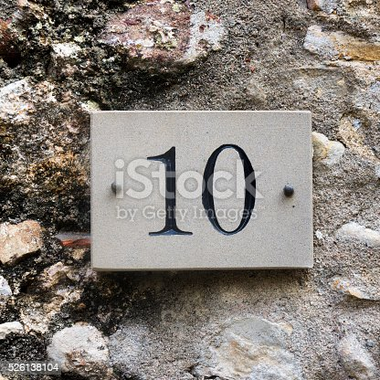 583977832 istock photo House number 10 526138104