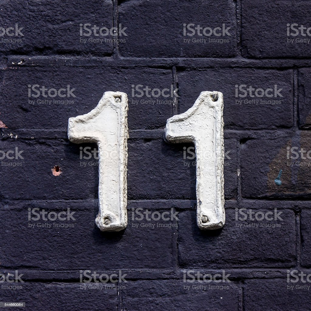 House number 11 stock photo