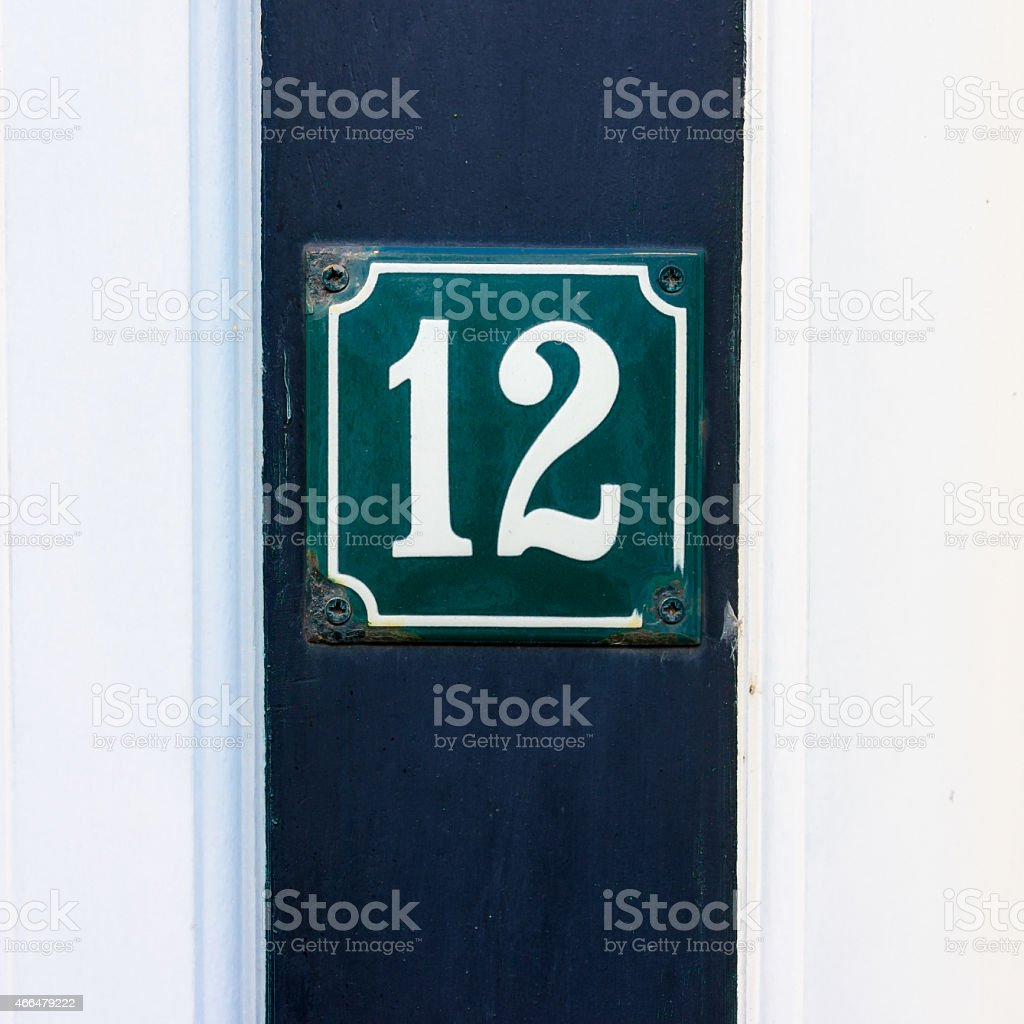 house number 12 stock photo