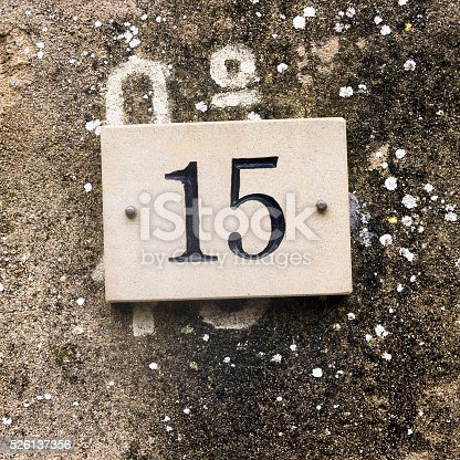 583977832 istock photo House number 15 526137356