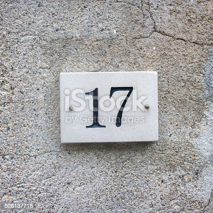 istock House number 17 526137716