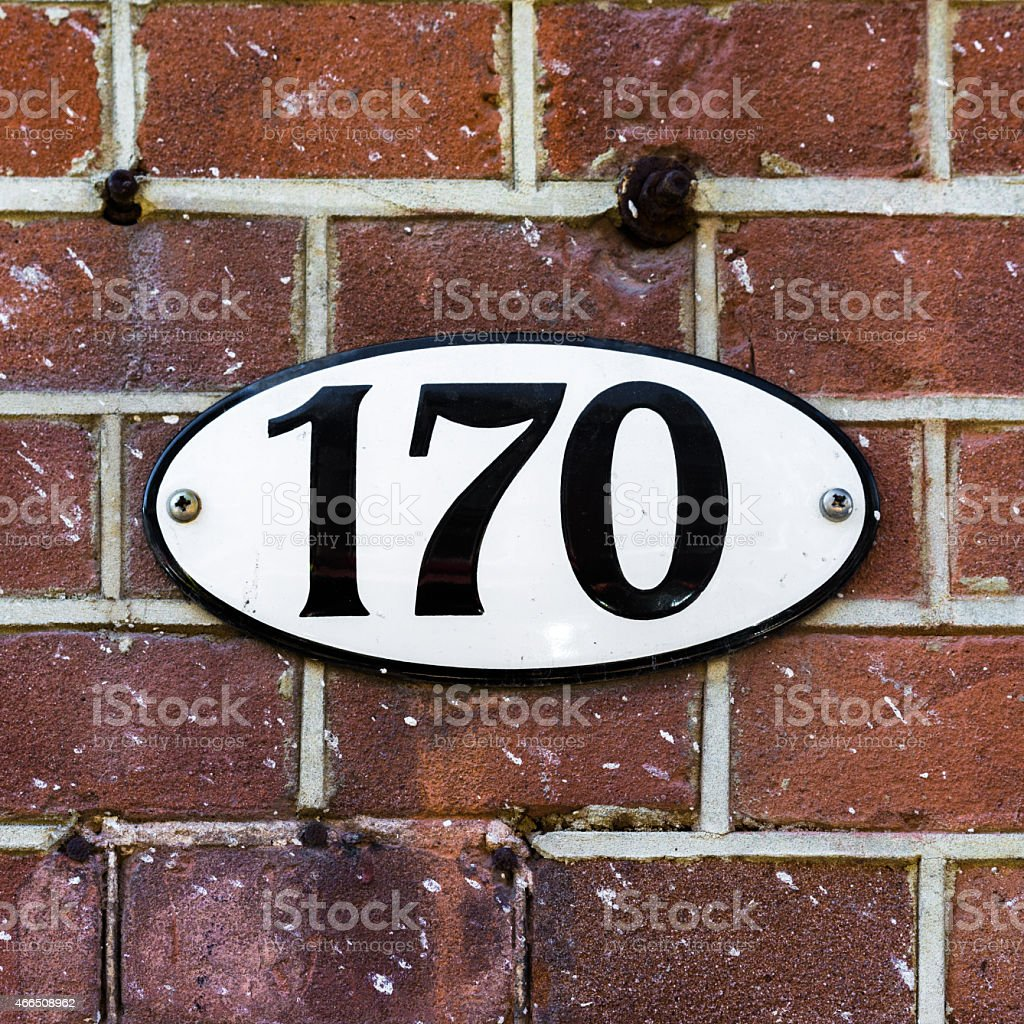 House number 170 stock photo