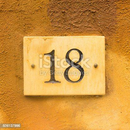 583977832 istock photo House number 18 526137996