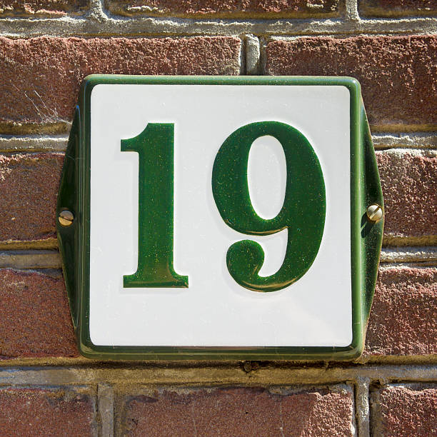 house number 19 - number 19 stock photos and pictures