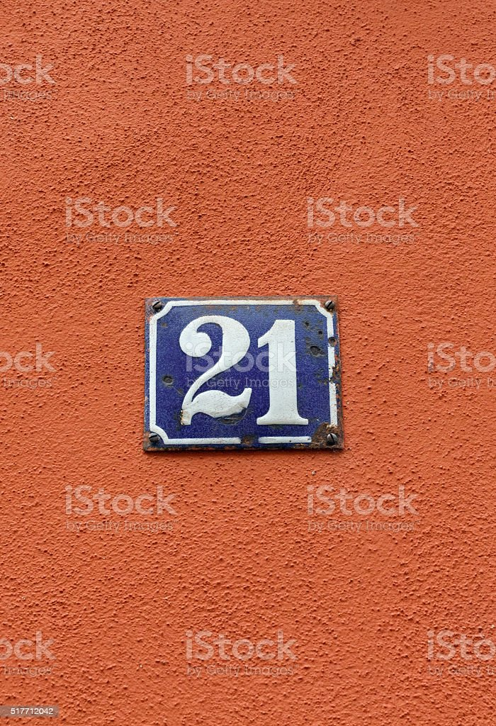 Old fashioned house numbers 53