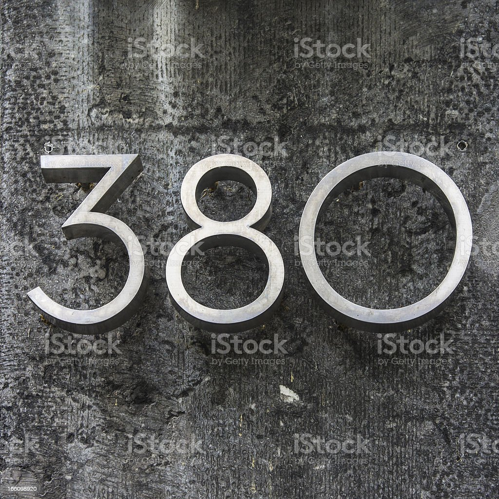 house number 380 stock photo