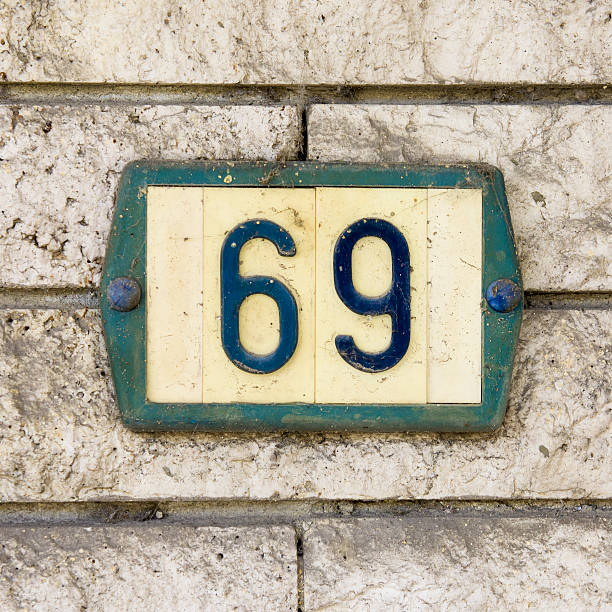 house number 69 - number 69 stock photos and pictures