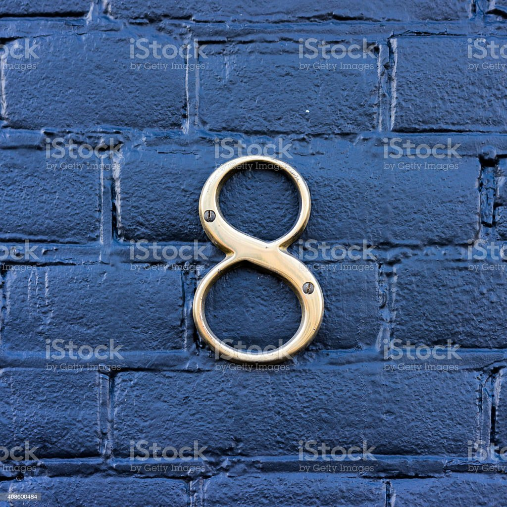 House number 8 stock photo