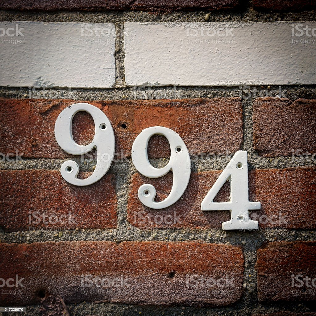 House number 994 stock photo