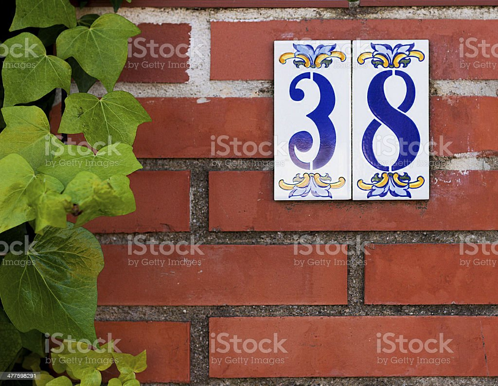 House number. stock photo