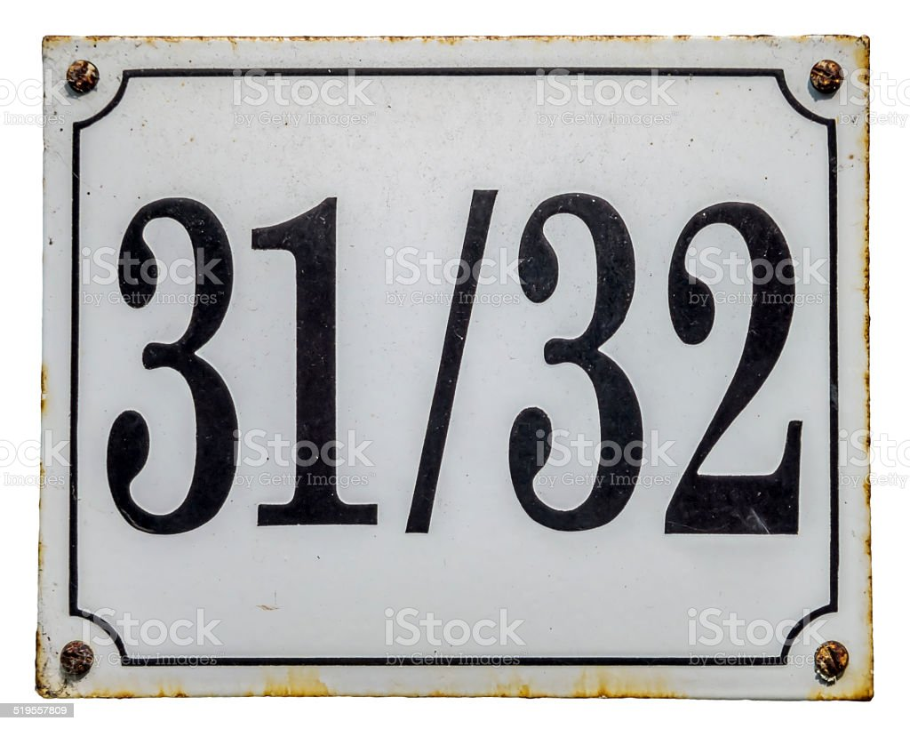 House number plate stock photo