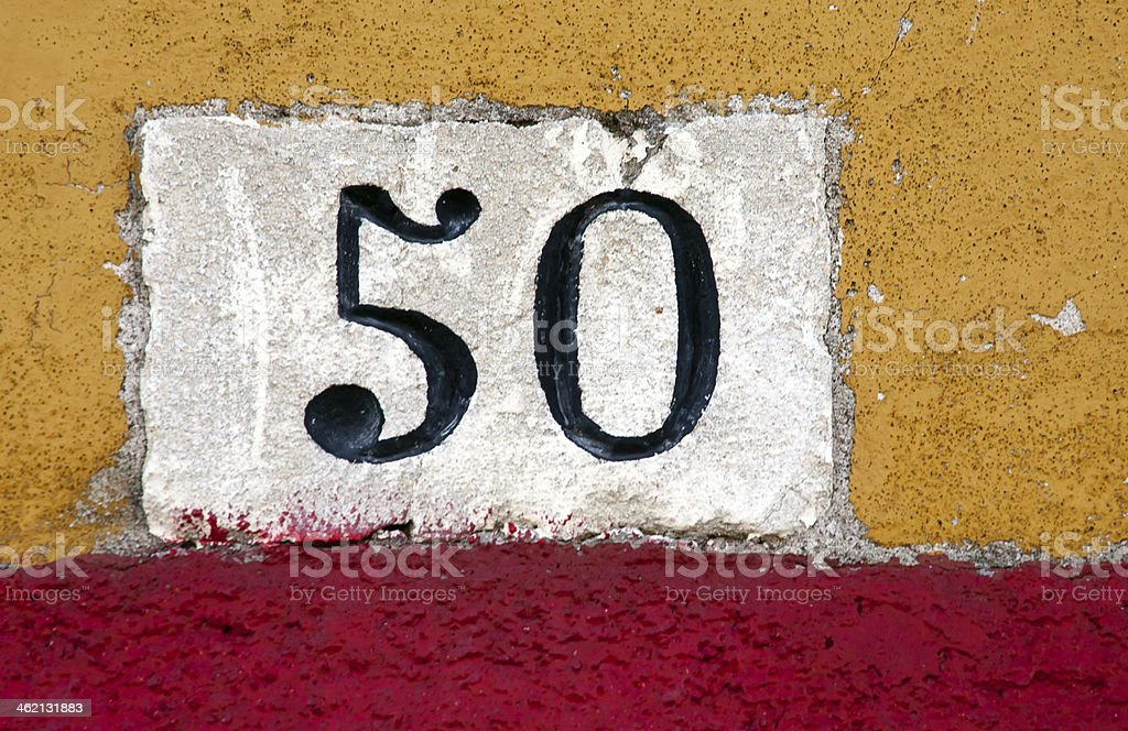 house number sign stock photo