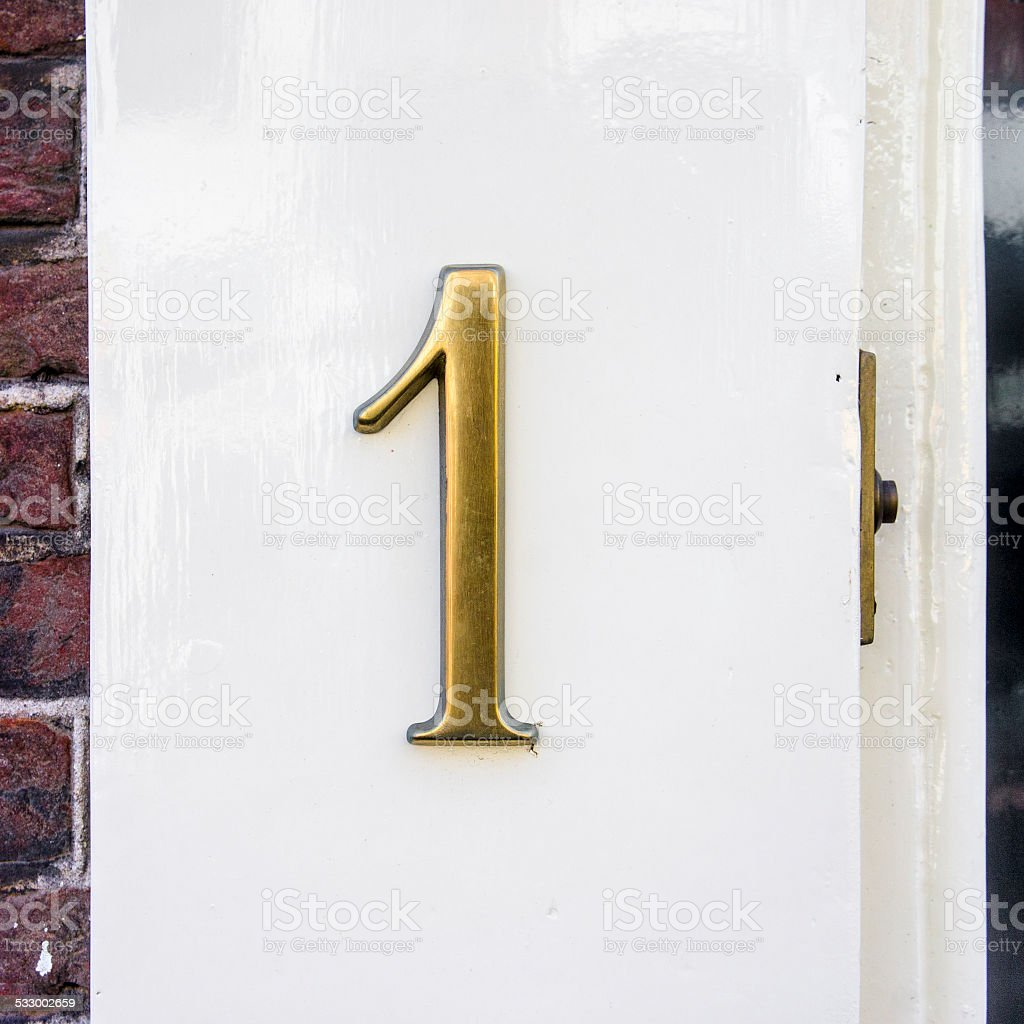 House number1 stock photo