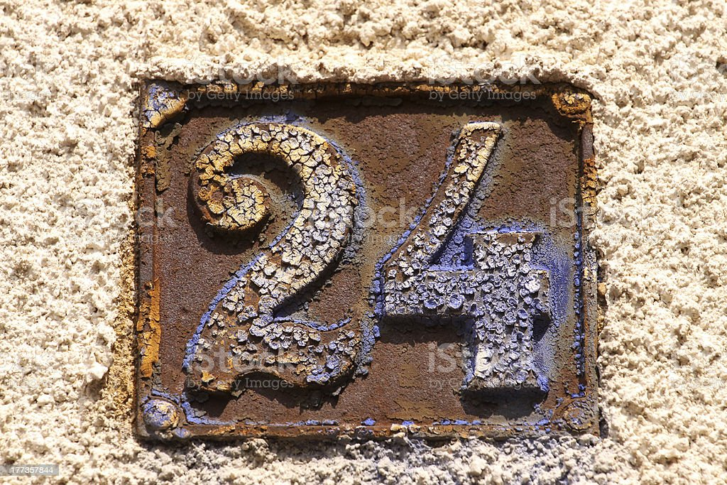 House numbers royalty-free stock photo