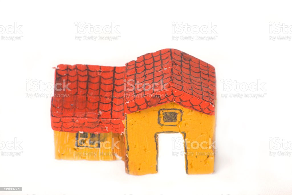 house object made of thermal and color royalty-free stock photo