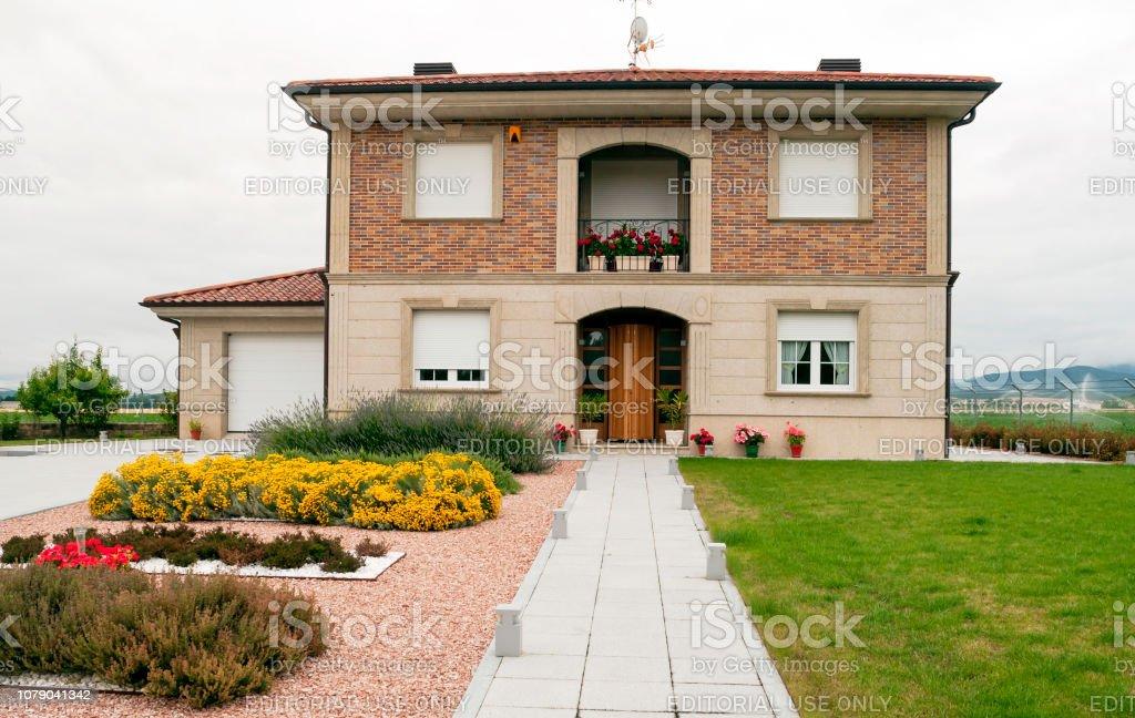 Casa de Aínsa - foto de stock