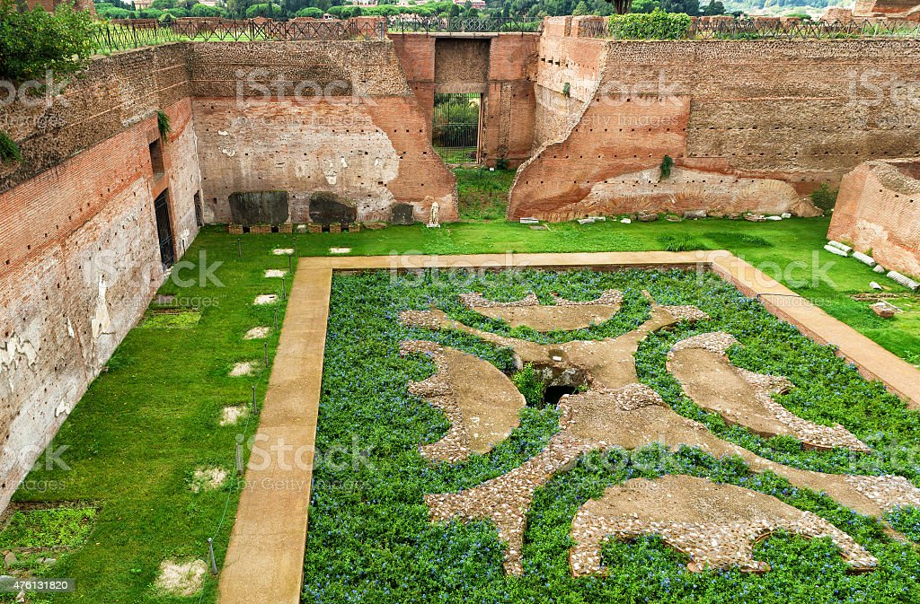 House of Augustus at the Palatine Hill in Rome stock photo