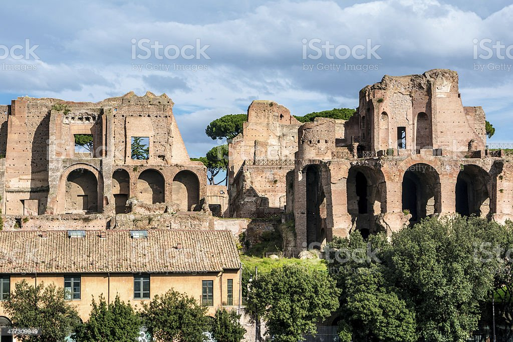 House of Augustus or Domus Augusti stock photo