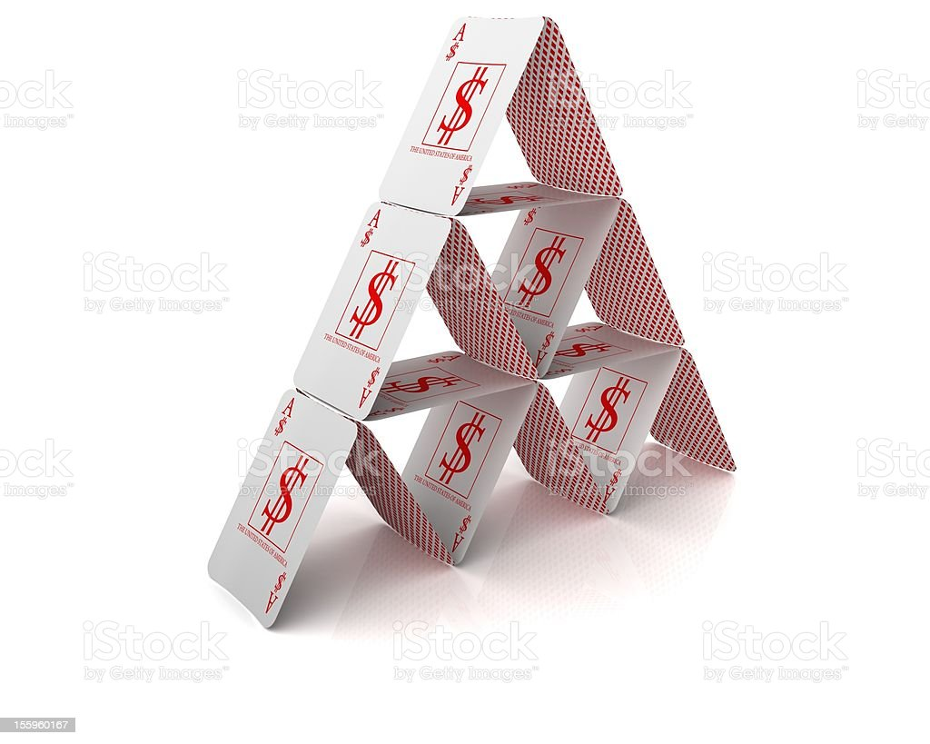 House of cards (dollar suit) stock photo