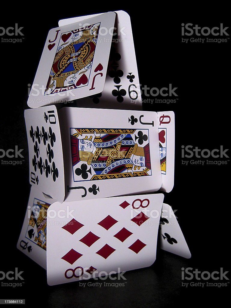 House of Cards royalty-free stock photo
