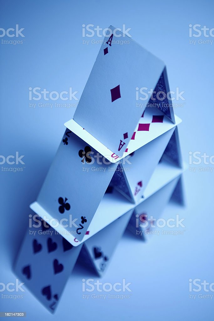 House of Cards stock photo