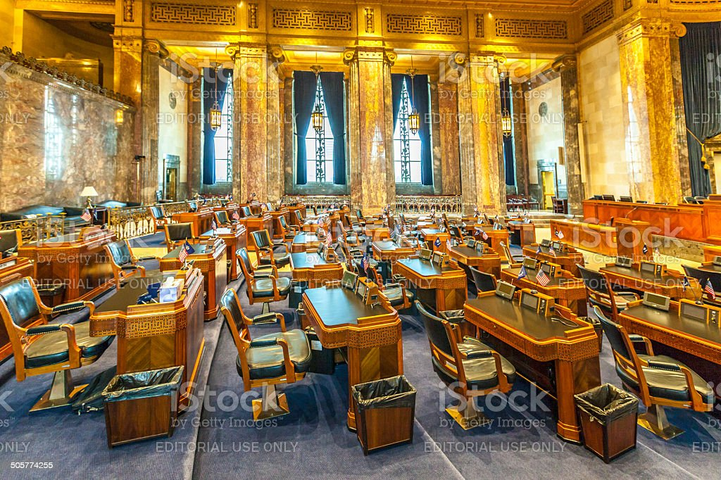 house of chambers in Louisiana State Capitol stock photo