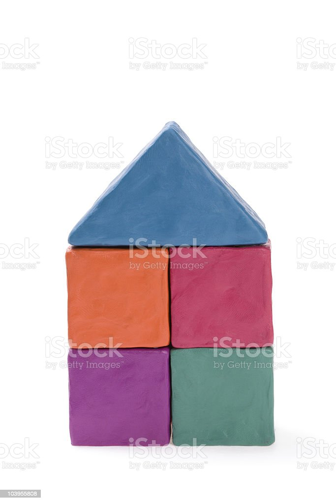 House of colored plasticine royalty-free stock photo