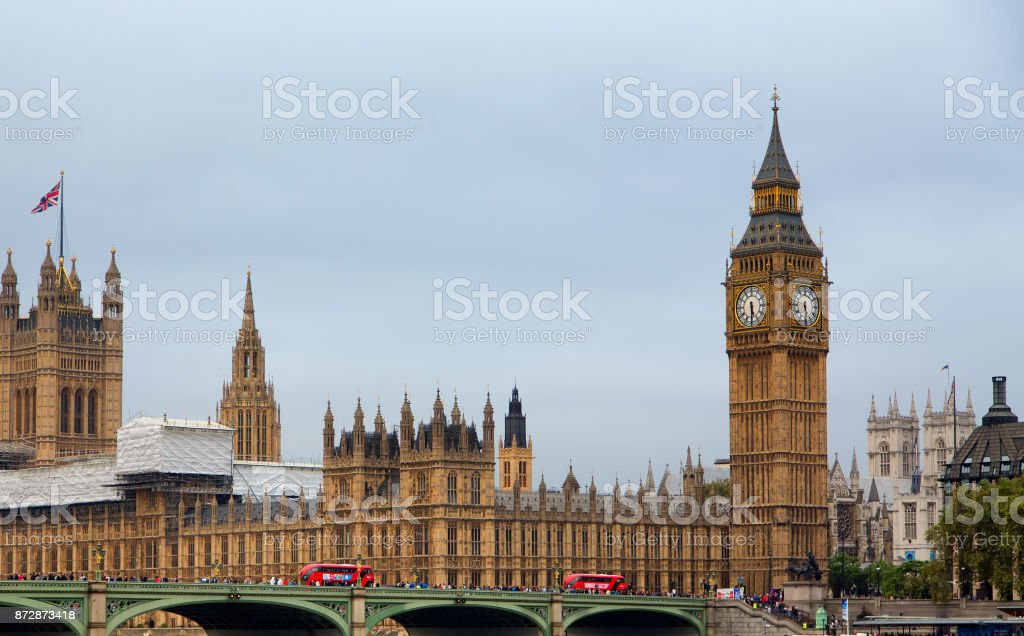 House of Commons and Parliament stock photo