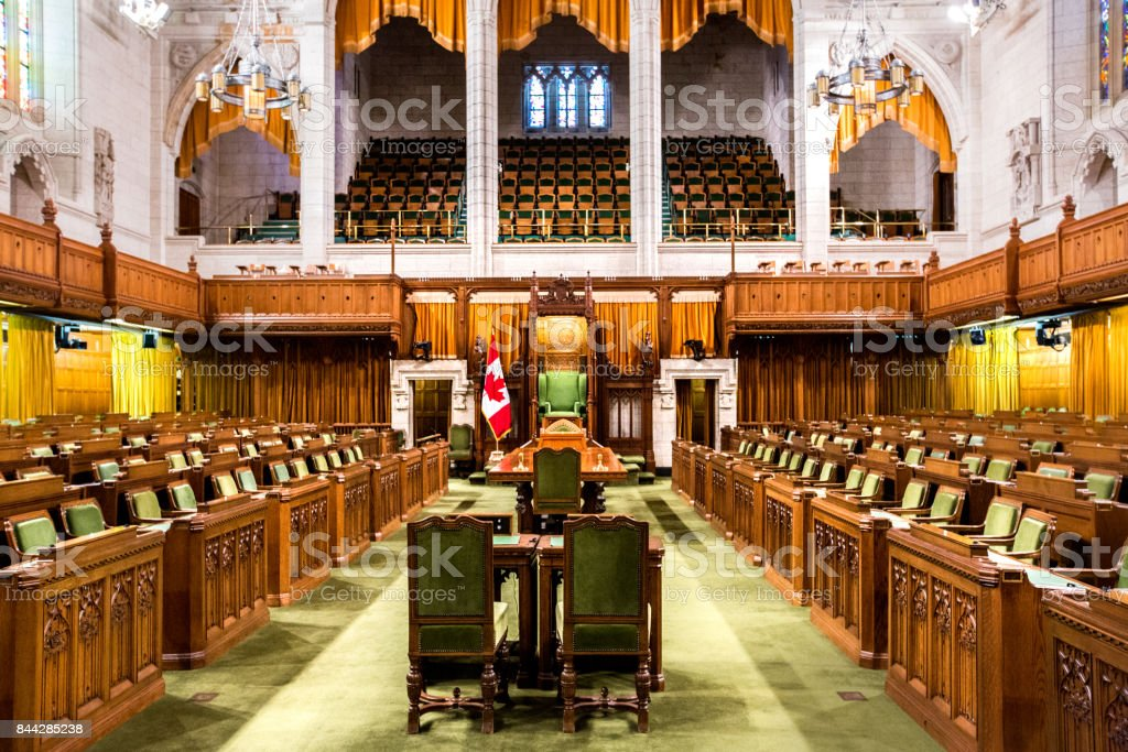 House of Commons - Canadian Parliament Building stock photo
