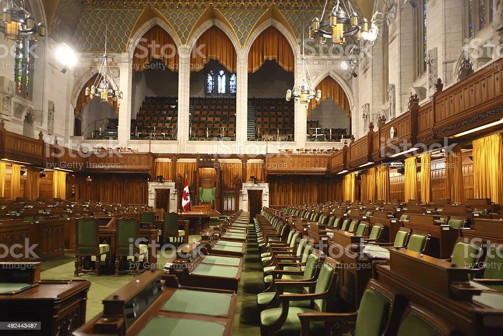Cámara de los comunes de Canadá - foto de stock